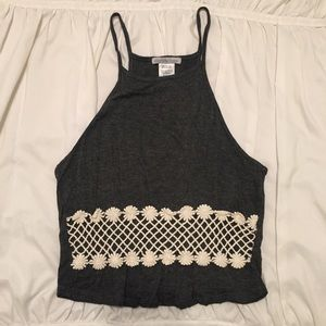 cute grey crop top!